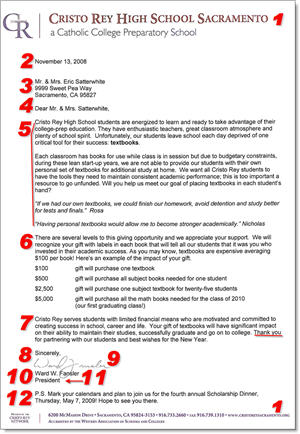 Fundraising Donation Letter Template - 12 Items To Include In
